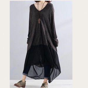 Buykud Oversized Boho Baggy Dress